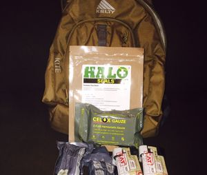 A personal bailout bag with first-aid items for an active shooter incident (Photo by Dan Limmer)