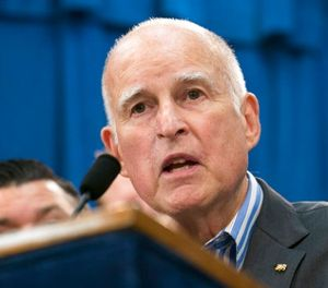 In this July 17, 2017 file photo Gov. Jerry Brown speaks at a Capitol news conference in Sacramento, Calif. (AP Photo/Rich Pedroncelli,File)
