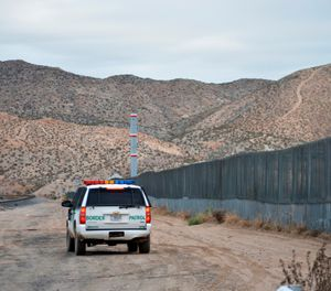 In this Jan. 4, 2016, file photo, a U.S. Border Patrol agent patrols Sunland Park along the U.S.-Mexico border next to Ciudad Juarez. (AP Photo/Russell Contreras, File)