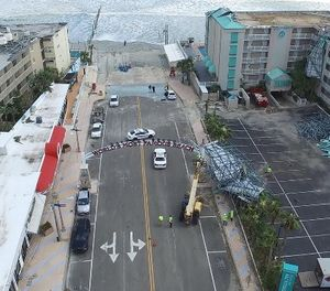 Pictures and videos captured by the drones were essential when working with FEMA during the recovery process. (Photo/Daytona Beach PD)