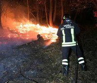 Forest fires scorch northern Italy, force hundreds to flee