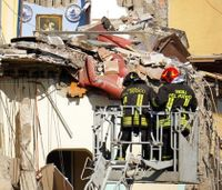 Apartment building collapses in Italy; some may be trapped
