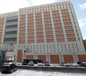 Metropolitan Detention Center (MDC) in the Brooklyn borough of New York. Hundreds of inmates at a federal jail in New York City have spent days in cold, dark cells amid frigid weather and without access to visitors or email, attorneys for the inmates said Friday, Feb. 1, 2019. (AP Photo/Kathy Willens, File)