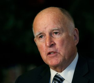 In this Dec. 18, 2018 file photo, then-California Gov. Jerry Brown discusses his time in the state's highest office during an interview with The Associated Press in Sacramento, Calif. (AP Photo/Rich Pedroncelli, File)
