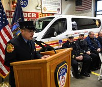 9/11 firefighter, cancer survivor donates van to brothers in need