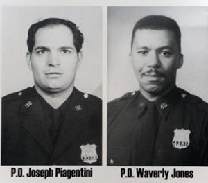 Officers Joseph Piagentini, left, and Waverly Jones were killed after being lured with a bogus 911 call. (Photo/NYPD)