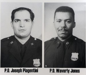 Pictured is NYPD Officers Waverly Jones and Joseph Piagentini. (Photo/NYPD)