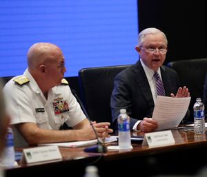 """Attorney General Jeff Sessions thinks the U.S. could easily combat the growing opioid crisis by taking over-the-counter medications for pain and """"tough it out."""" (Photo/AP)"""
