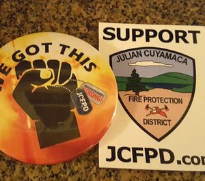 he standoff in Julian between the community's volunteer fire department and the county will continue until at least next week after a court hearing was postponed. (Photo/Julian Cuyamaca Fire Protection District)