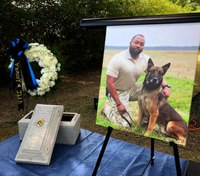 Ala. K-9 who died after drug contact honored at memorial