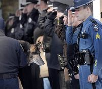 Ill Maine K-9 gets police escort to be euthanized