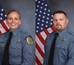 Deputies Theresa King and Patrick Rohrer, who were killed while transporting inmate Antoine Fielder back to jail (Photo/ Wyandotte County Sheriff's Office/TNS)