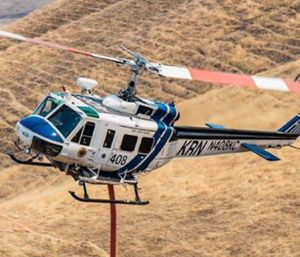 The Kern County Fire Department, as part of California's mutual aid system, sent one of its night-equipped helicopters to assist in the devastating Tubbs Fire. (Photo/Kern County Fire Department)