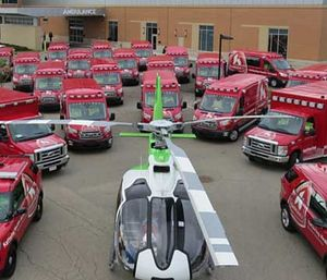 Kettering Health Network's fleet of medical transportation vehicles. (Photo Courtesy Kettering Health Network)