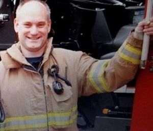 The family of Kevin Hauber, a firefighter who died of colon cancer, was awarded his annual salary of $101,000 by the Buffalo Grove Firefighters Pension Board.