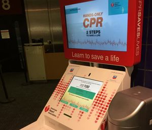 A recent study found that Hands-Only CPR training kiosks are just as effective as a training class. (Photo/Greg Friese)