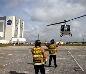 Firefighters at Kennedy Space Center are preparing to strike to fight for their retirement benefits and sick leave that they say officials are trying to take away. (Photo/NASA)