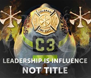 Being a leader – in firefighting or sports – is earned and not just given with a promotion to a rank. (Courtesy photo)