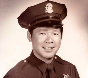 This undated photo released by the San Francisco Police Department shows Herb Lee, San Francisco's first Chinese-American police officer. (San Francisco Police Department via AP)