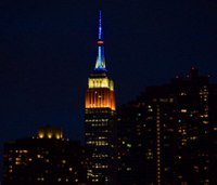FDNY ceremonially lights Empire State Building for EMS Week