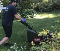 Responders finish mowing lawn for patient after he fell