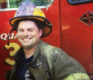 Michael Lubig died Monday after suffering a medical emergency at his fire station. (Photo/DFD)