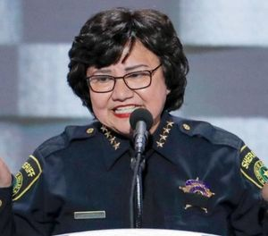 Valdez speaks at the Democratic National Convention in Philadelphia in 2016. (Photo/Associated Press)