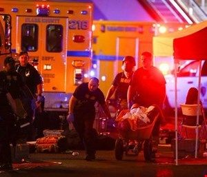 The NFPA 3000 Standard for an Active Shooter/Hostile Event Response Program was created with insight from fire, EMS and law enforcement officials. (Photo/Chase Stevens/Las Vegas Review-Journal via AP)