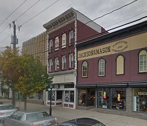 The Delhi Masonic Lodge was located on the second floor of a pizzeria that caught fire. (Photo/Google Maps)