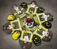 Photo: Iowa fire dept. welcomes 6 babies in 7 months