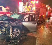 2 Miami firefighters struck while helping crash victims