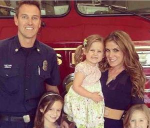 Costa Mesa fireCapt. Mike Kreza was killed after being hit by a van while riding his bike. (Photo/GoFundMe)
