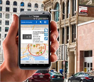 Vigilant's Mobile Hit Hunter is an analytic tool that matches privately collected license plate reader (LPR) data with police agencies' hotlists to let officers in the field know where vehicles of interest are located in proximity to their person. (Photo courtesy Vigilant Solutions)