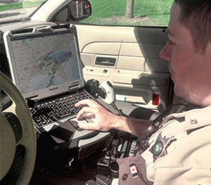 Blueforce Tactical and M2M Cloud Service software work together with Intelligent Data Portal to create a mobile, cloud-based application that gathers contextual information. (Photo courtesy Motorola Solutions)