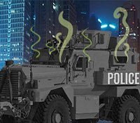 SWAT team debates how to address colleague's B.O. after suffocating in MRAP one too many times