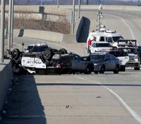 Multistate police pursuit leads to 3 LEOs injured, 2 crashes