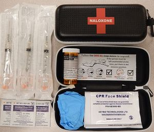 Naloxone kits as distributed in British Columbia, Canada. (Photo/Wikimedia Commons)