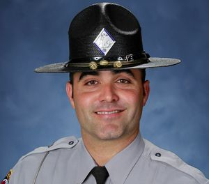 Pictured is State Trooper Kevin Connor. (This undated photo provided by the North Carolina Highway Patrol shows Trooper Kevin Conner. Authorities say Conner was shot and killed by a driver during a traffic stop early Wednesday, Oct. 17, 2018 in Columbus County, N.C. (North Carolina Department of Public Safety via AP)
