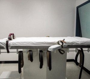 This July 7, 2010, file photo shows Nebraska's lethal injection chamber at the State Penitentiary in Lincoln, Neb. (AP Photo/Nate Jenkins, File)