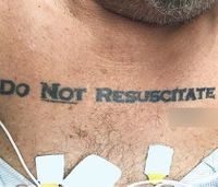 DNR tattoos: Are they legal and is EMS bound to comply?