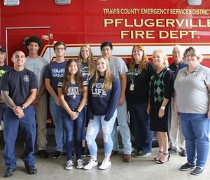 Participating students will receive an EMT-Basic certification after spending a minimum of 48 hours in an ER and 60 hours in an ambulance. (Photo/Pflugerville Fire Dept.)