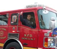 Critically hurt firefighter escorted home after rehab