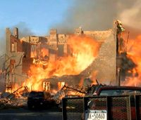 NY inferno sparked by amateur bladesmith imitating TV show
