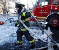 For firefighters, bitter weather creates its own hazards