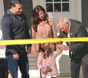 Officer Matias Ferreira and his family received a new home specifically built to address his needs as a person with disabilities. (Photo/Carol Gallo-Turschmann/Facebook)
