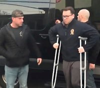 NYPD officer wounded in blue-on-blue shooting returns home