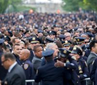 NYC mayor at officer's funeral: 'We must help our police'