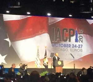 President Barack Obama addresses the crowd at IACP 2015. (PoliceOne Image)
