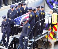 Video: Thousands gather for funeral of fallen Ohio firefighter