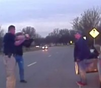 Video: Okla. stop ends in gunfire after DUI suspect brandishes knife